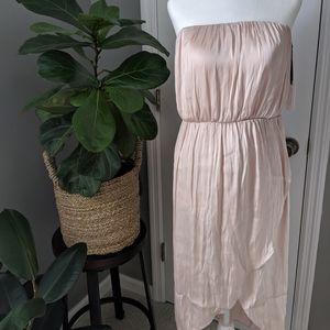 Champagne Midi Strapless Dress